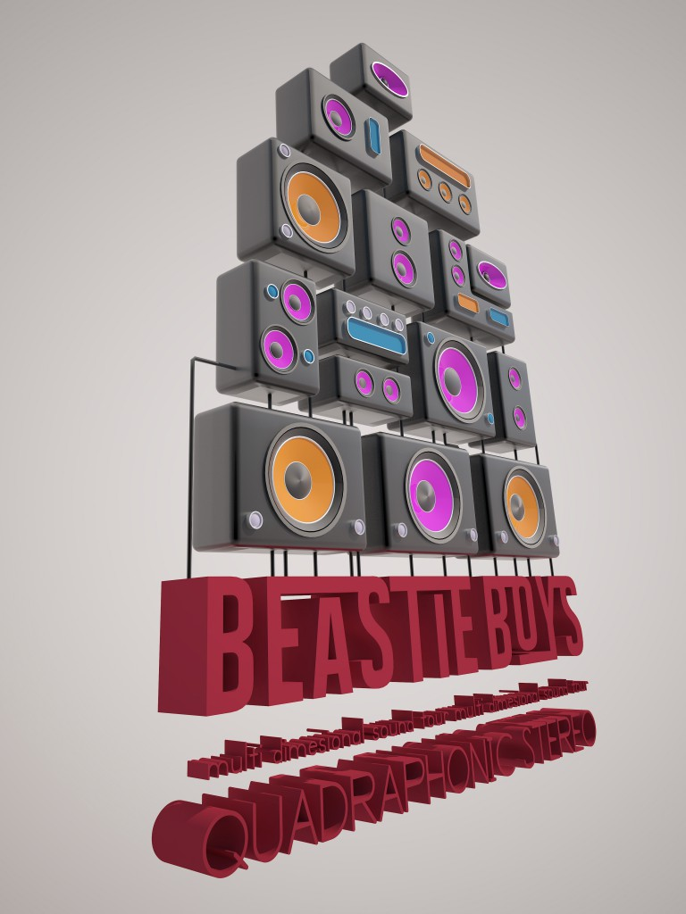Beastie Boys Quadrophonic Stereo by Mike Mills / 3D Tribute